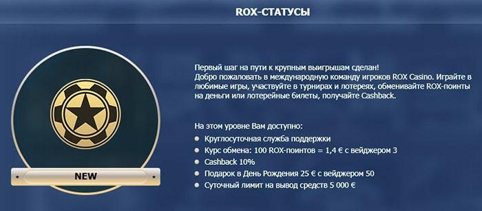 Бонусная программа Рокс казино